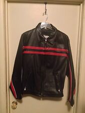 Excelled Men's Leather Motorcycle Jacket - Size 42