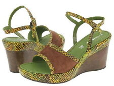 Stonefly Only 2 Wedge Sandal Brown/Green Croc 40 9