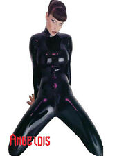 AngelDis latex suit without hood hand feet back zipper through crotch #01003