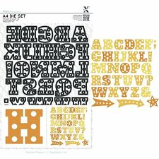 DOCRAFTS XCUT A4 DIE SET MARQUEE ALPHABET LETTERS - 34 DIES - NEW