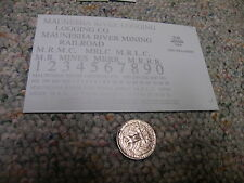 Herald King decals HO Maunesha River Logging Mining Co  silver  ZZ296