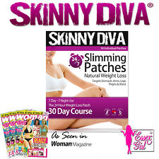 SKINNY DIVA SLIMMING PATCHES 30 INDIVIDUAL PATCHES NATURAL WEIGHT LOSS