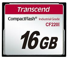 16GB Transcend Industrial Temperature Range CF220I 220X Ultra CompactFlash (SLC)