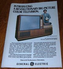 1978 GENERAL ELECTRIC BIG SCREEN COLOR TV AD~WIDE SCREEN 1000 TELEVISION