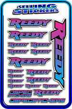 REEDY RC STICKERS DRIFT TOURING MOTOR ESC BATTERY AE 1/12 1/10 RACE BLUE PINK B