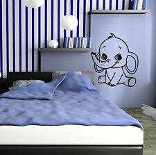 Vinyl Decal Elephant For Kids Room Baby Nursery Animal Wall Stickers (ig647)