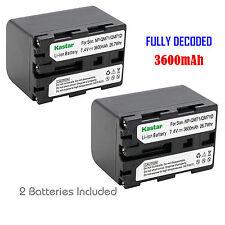 2x Kastar Battery for Sony NP-QM71D DCR-DVD100 DCR-DVD101 DCR-DVD200 DCR-DV