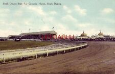 SOUTH DAKOTA STATE FAIR GROUNDS, HURON, S.D. 1910 view of horse race track