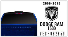 For: DODGE RAM 1500; 982859 PAINTED Truck Cab Spoiler 2009-2016
