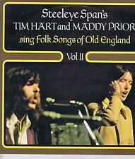 STEELEYE SPAN'S TIM HART AND MADDY PRIOR SING FOLK SONGS OF OLD ENGLAND  II LP