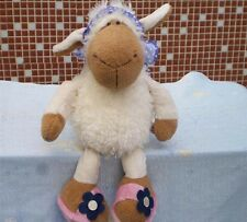 lovely purple scarf white sheep stuffed animals soft toys baby dolls 25 CM