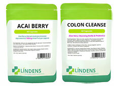 Acai Berry Beere + Darmreiniger Colon Cleanse Kombination verpacken - 1 Monat