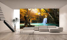 Deep Forest Waterfall  Wall Mural Photo Wallpaper GIANT WALL DECOR PAPER POSTER
