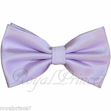 Brand Q Pastel Lilac Solid Butterfly Pretied Bow tie Wedding Formal Prom