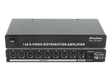 1x8 (1:8) 8-Way S-Video (Y/C) Video Splitter Distribution Amplifier SB-3706SV