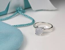 Tiffany & Co. Paloma Picasso Sugar Stacks Blue Chalcedony Ring Silver NWT Sz 4