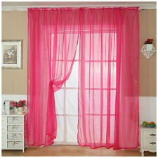 Plain Tulle Voile Window Curtain Drape Panel Sheer Scarf Valance Room Divider