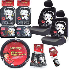 Betty Boop Low Back Car Seat Covers Accessories Set  12 pc Set -Timeless