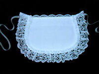 LITTLE GIRLS CHILDS VICTORIAN STYLE MAIDS CUTE LITTLE WHITE APRON COTTON LACE **