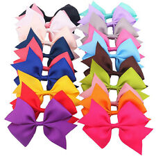 20pcs Baby Kids Girls Boutique Big Bow Bowknot Hair Clips Ribbon Hairpins