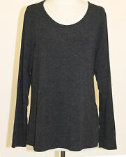 RISONA TOMO EURO JERSEY PULLOVER BLOUSE ANTHRA MELANGE CHARCOAL GRY Sz 2 14 $150