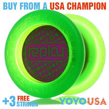 YoYoFactory Replay Responsive Beginner Yo-Yo - Green + FREE DVD + FREE STRINGS