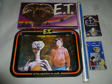 VINTAGE ET EXTRA TERRESTRIAL LOT BOARDGAME TV TRAY POSTER FIGURE KEYCHAIN 1982