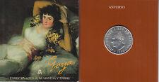 España Spain Cartera Oficial 1996 Moneda 2000 ptas Juan Carlos I Goya Maja vesti