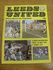10/11/1976 Leeds United v Stoke City  (token removed, slight rusty staples, scor