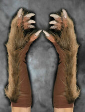Brown Werewolf Wolf Claws Hands Scary Zagone Adult Halloween Costume Gloves