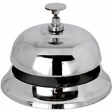 SILVER DESK BELL= ONE OF 2 AMAZING SMALL BELLS. GREAT FOR THE HOME OR OFFICE.