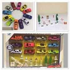 12die CAST CAR RACING RACE f1 giocattolo gioco in metallo mini set di modello del veicolo Bambino Ragazzo Regalo