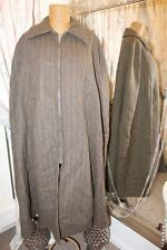 Green equestrian wool tweed cape carriage coat - Ditsy Vintage 1950s 1960s L