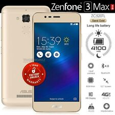 """ASUS Zenfone 3 Max ZC520TL Gold 5.2"""" IPS LCD 4G LTE Android 6.0.1 Mobile Phone"""