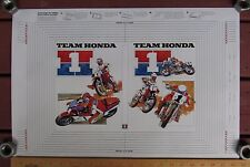 1985 TEAM HONDA BOOK COVER Vintage Motocross Superbike Dirt Track CR250R VF750F