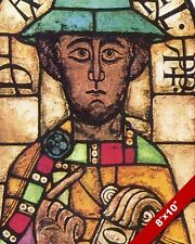 STAINED GLASS IMAGE OF THE PROPHET DANIEL PAINTING BIBLE ART REAL CANVAS PRINT
