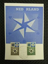 NIEDERLANDE MK 1957 EUROPA CEPT MAXIMUMKARTE CARTE MAXIMUM CARD MC CM c3569