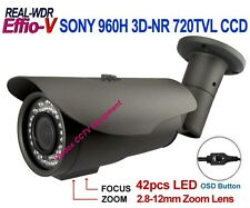 1/3 SONY 960H CCD Effio-V 720TVL Real WDR ATR OUTDOOR NightVision IR CCTV CAMERA