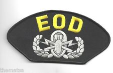 """EOD EXPLOSIVE BOMB SQUAD  6"""" EMBROIDERED MILITARY PATCH"""
