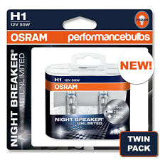 H1 OSRAM NIGHT BREAKER UNLIMITED FORD FOCUS ST170 XENON 98-04 HIGH BEAM BULBS