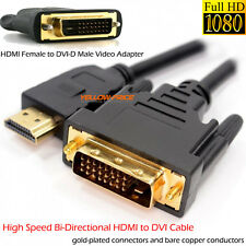 15FT HDMI to DVI-D 24+1 Cable hdmi to DVI Video Adapter 1080P TV PC PS3 XBOX DVD