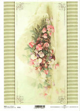 Rice Paper for Decoupage Scrapbooking, Vintage Sweet Pea Flowers ITD R715