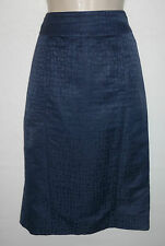 JAEGER linen silk snakeskin skirt UK 10 US 8 EU 38