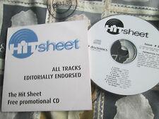 HitSheet #29  Promo  CD compilation Jane's Addiction Athlete Javine Motor Ace