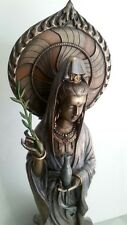 Kwan Kuan Quon Guan Yin Goddess of Compassion Olive Branch Statue Figurine #1649