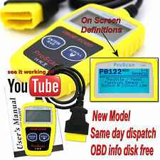 Car fault reader code scanner diagnostic tool OBD 2 CAN on screen DTC