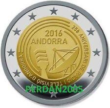 ANDORRA 2016 2 EURO COINCARD 25° ANNIVERSARIO RADIOTELEVISIONE ANDORRE АНДОРРА