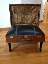 VINTAGE HARTMANN SUITCASE LUGGAGE CHAIR CONVERTED TO CHAIR