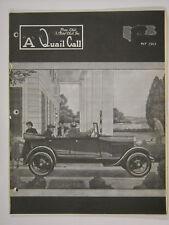 May 1963 A Quail Call Penn-Ohio Ford Model A Inc. Club Magazine