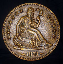 1873 Sitting Liberty Silver Dollar Wall Plaque 18027